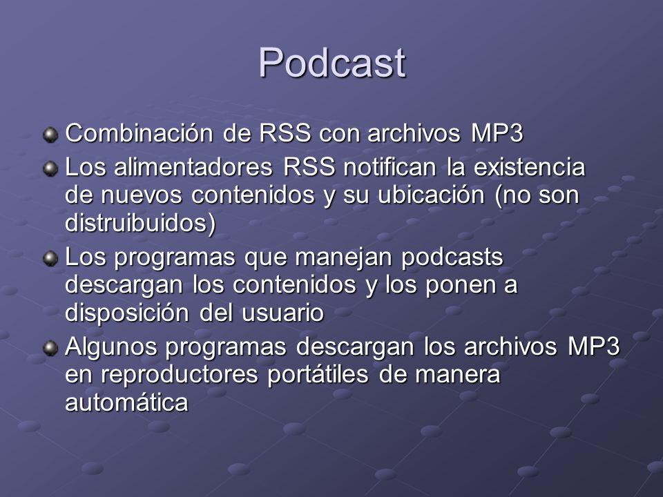 Podcast Combinación de RSS con archivos MP3