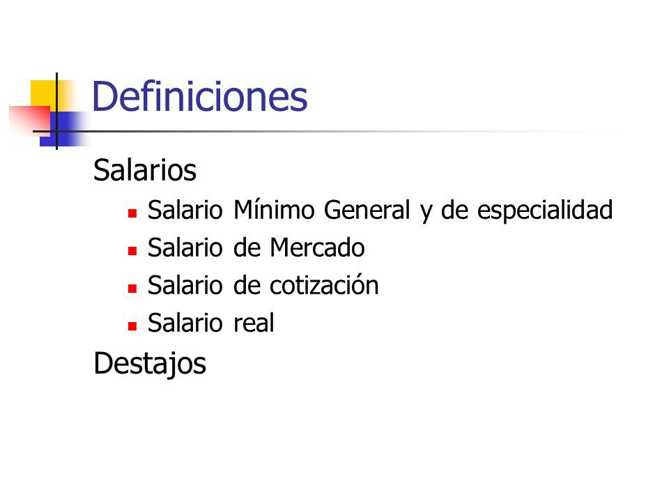 Definiciones Salarios Destajos