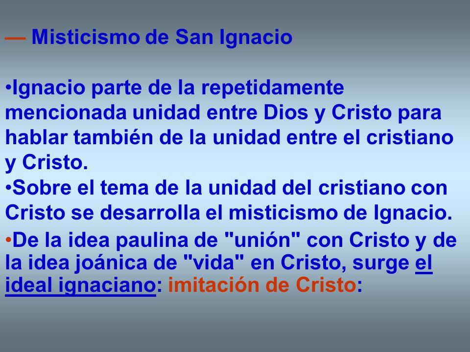 — Misticismo de San Ignacio