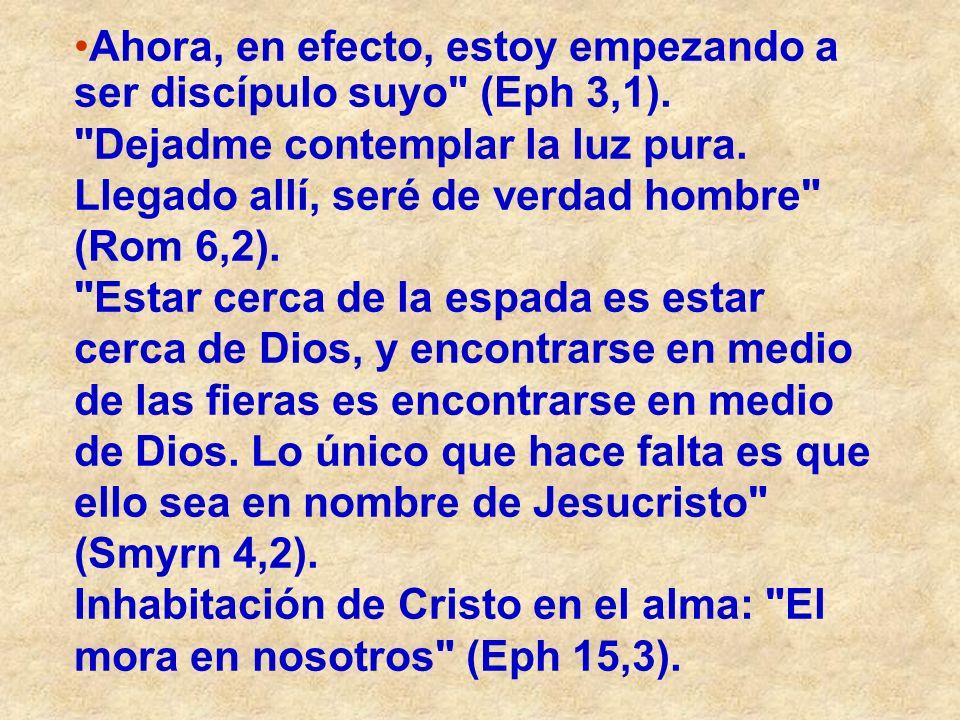 Ahora, en efecto, estoy empezando a ser discípulo suyo (Eph 3,1).