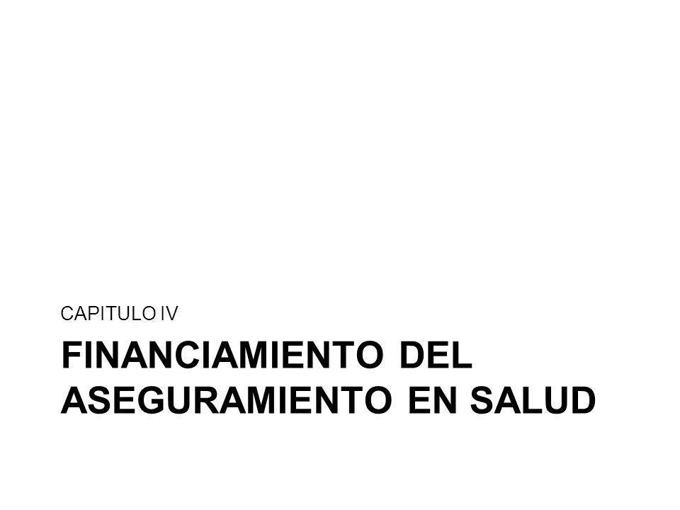 FINANCIAMIENTO DEL ASEGURAMIENTO EN SALUD