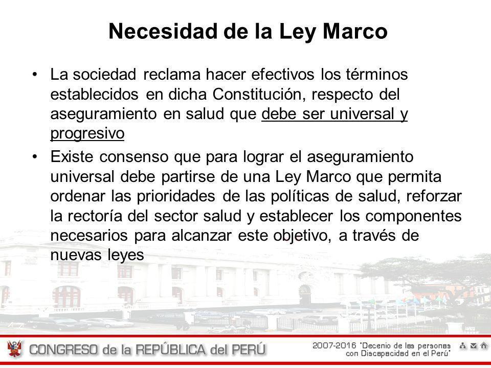 Necesidad de la Ley Marco