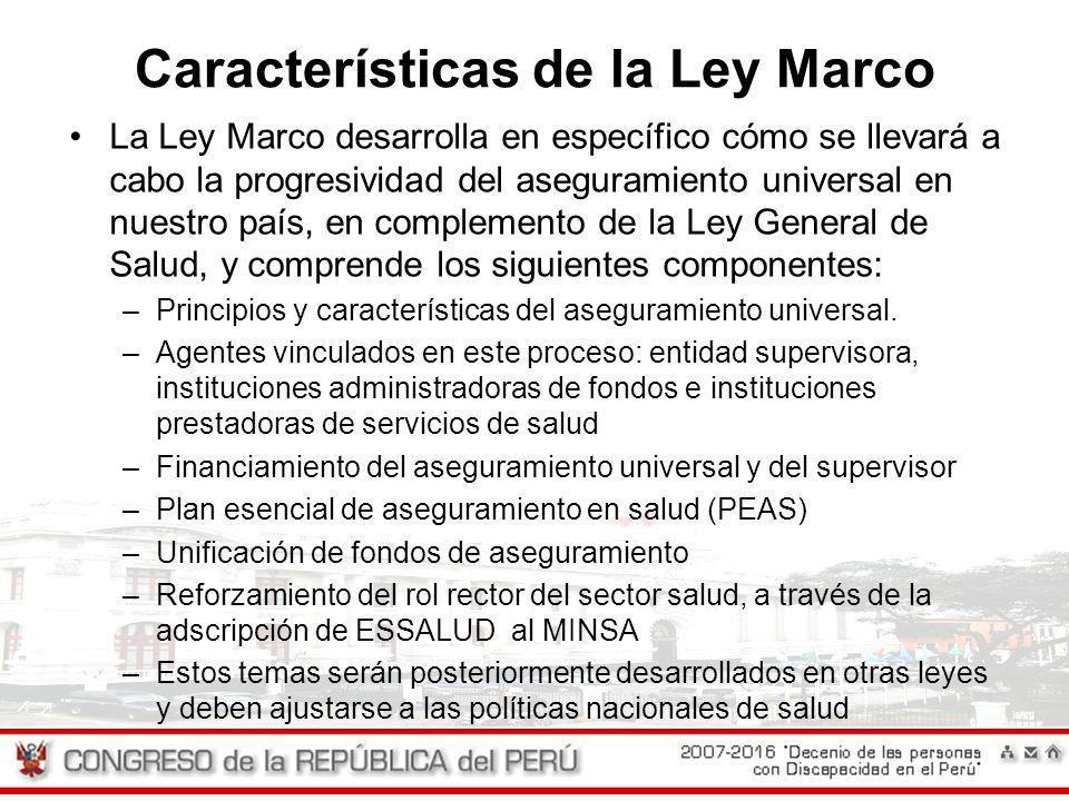 Características de la Ley Marco