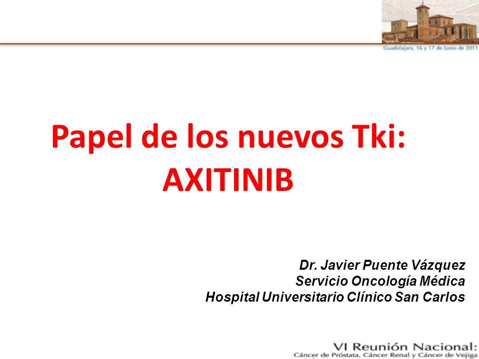 Papel de los nuevos Tki: AXITINIB