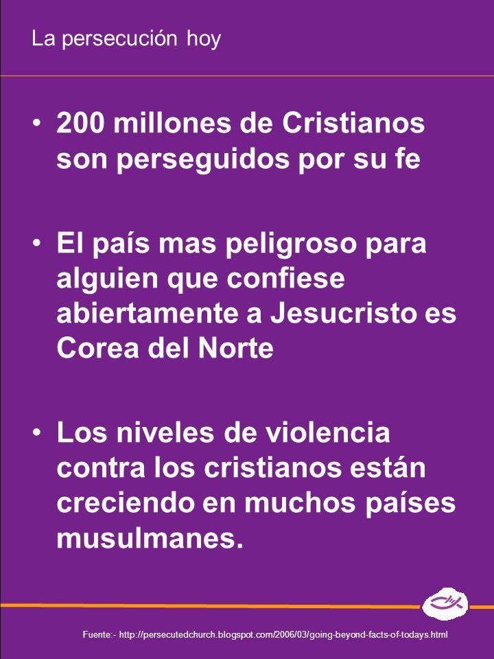 200 millones de Cristianos son perseguidos por su fe