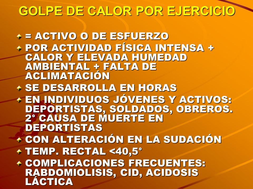GOLPE DE CALOR POR EJERCICIO