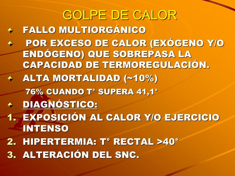 GOLPE DE CALOR FALLO MULTIORGÁNICO