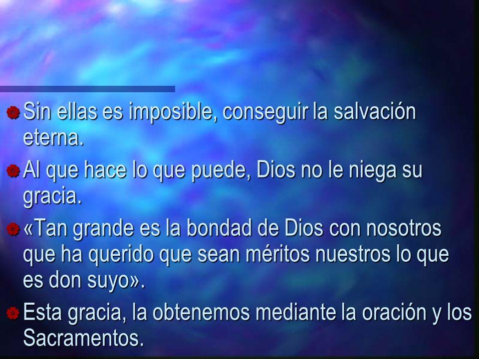 Sin ellas es imposible, conseguir la salvación eterna.