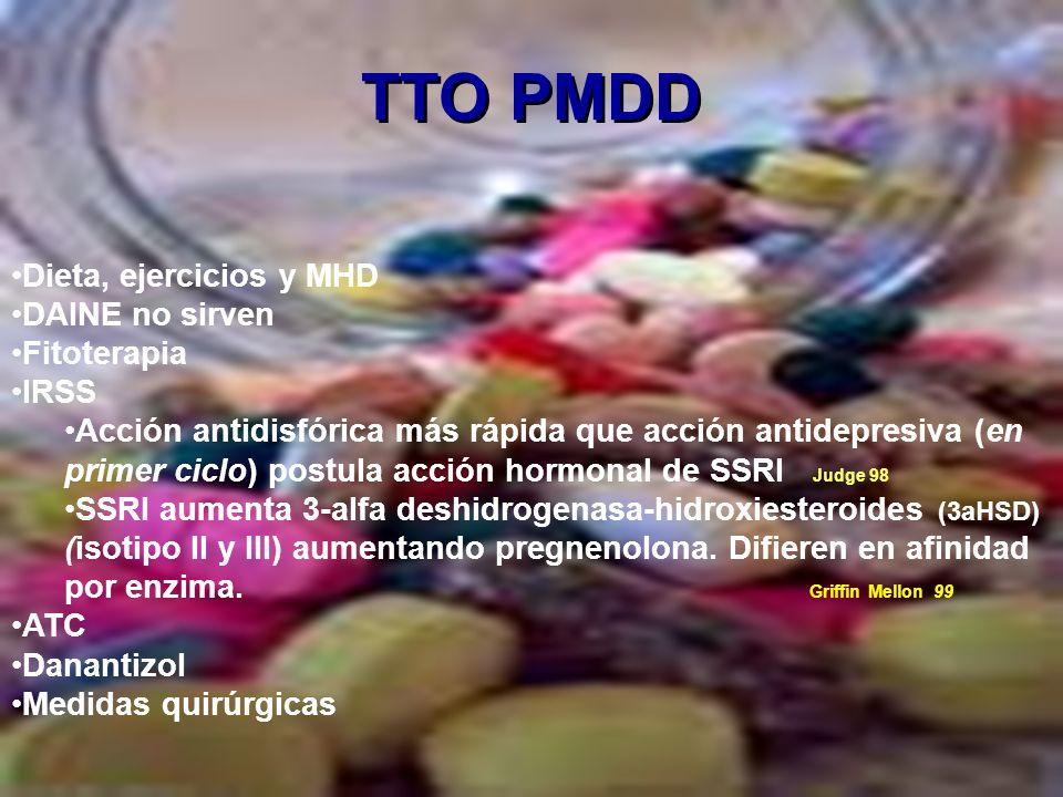 TTO PMDD Dieta, ejercicios y MHD DAINE no sirven Fitoterapia IRSS
