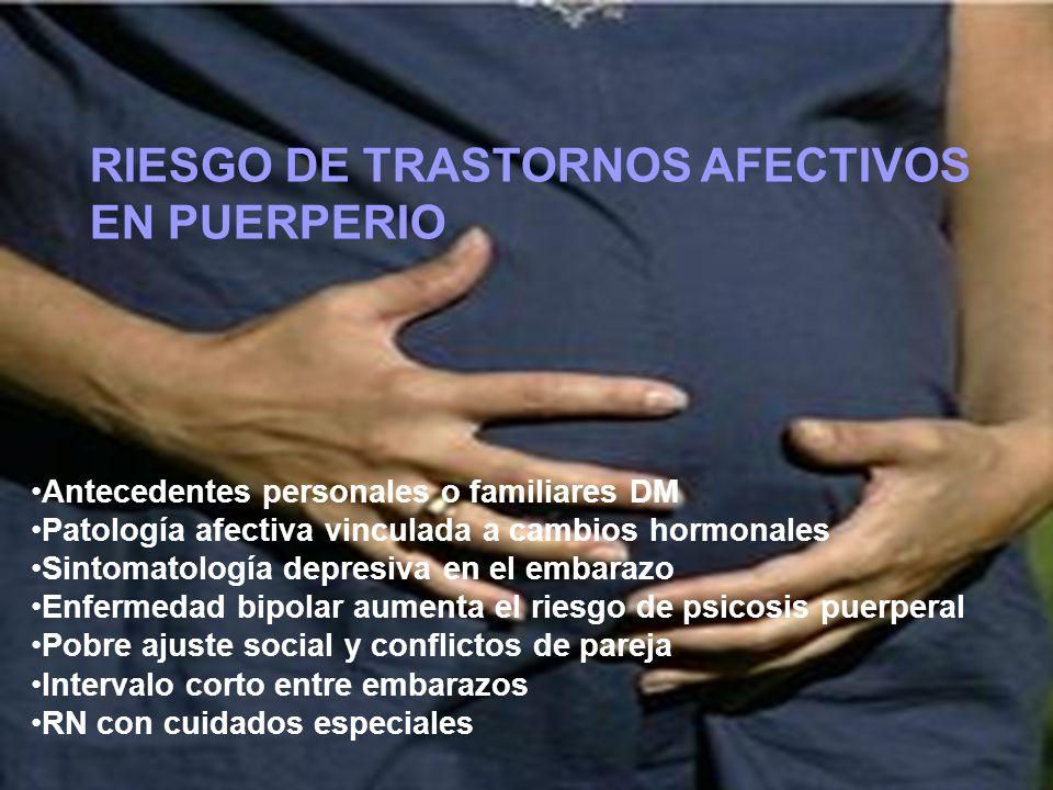 RIESGO DE TRASTORNOS AFECTIVOS EN PUERPERIO