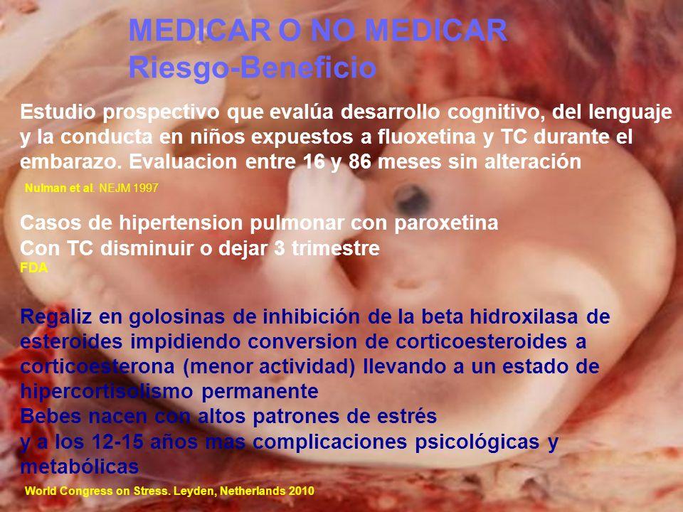 MEDICAR O NO MEDICAR Riesgo-Beneficio