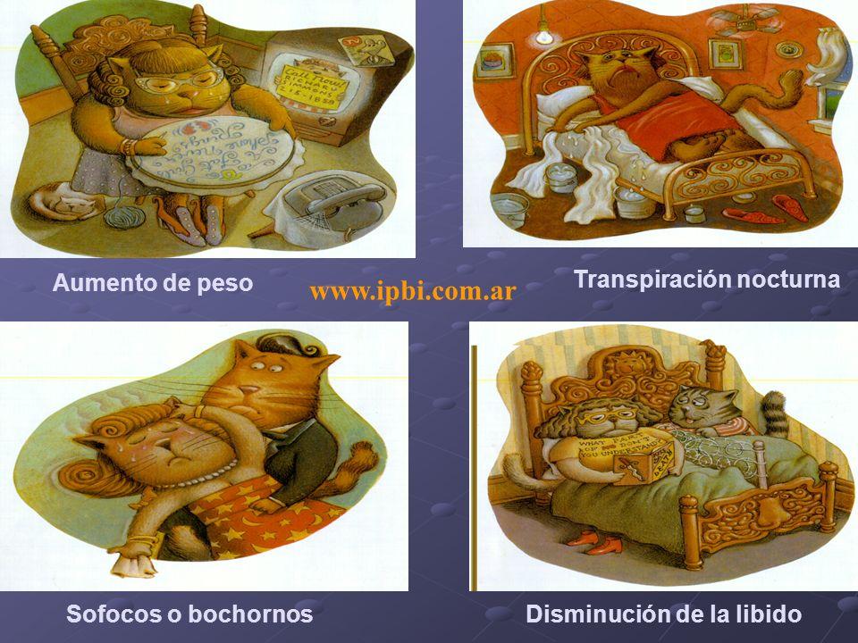 www.ipbi.com.ar Aumento de peso Transpiración nocturna