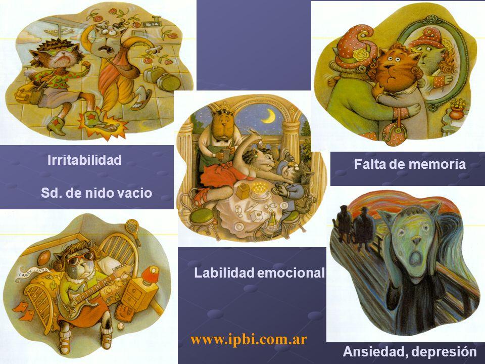 www.ipbi.com.ar Irritabilidad Falta de memoria Sd. de nido vacio