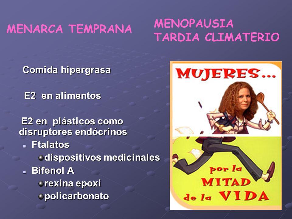 MENOPAUSIA TARDIA CLIMATERIO