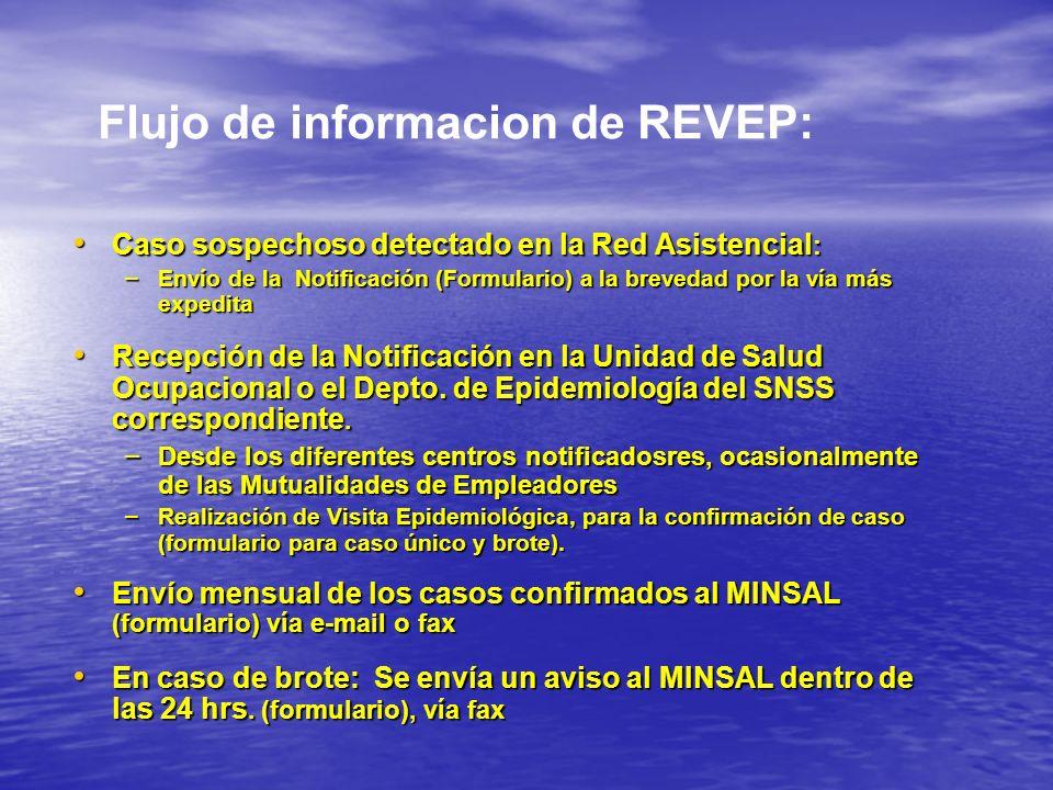 Flujo de informacion de REVEP:
