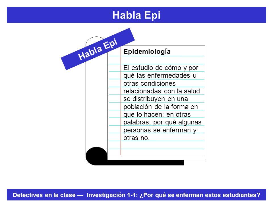 Habla Epi Habla Epi Epidemiología