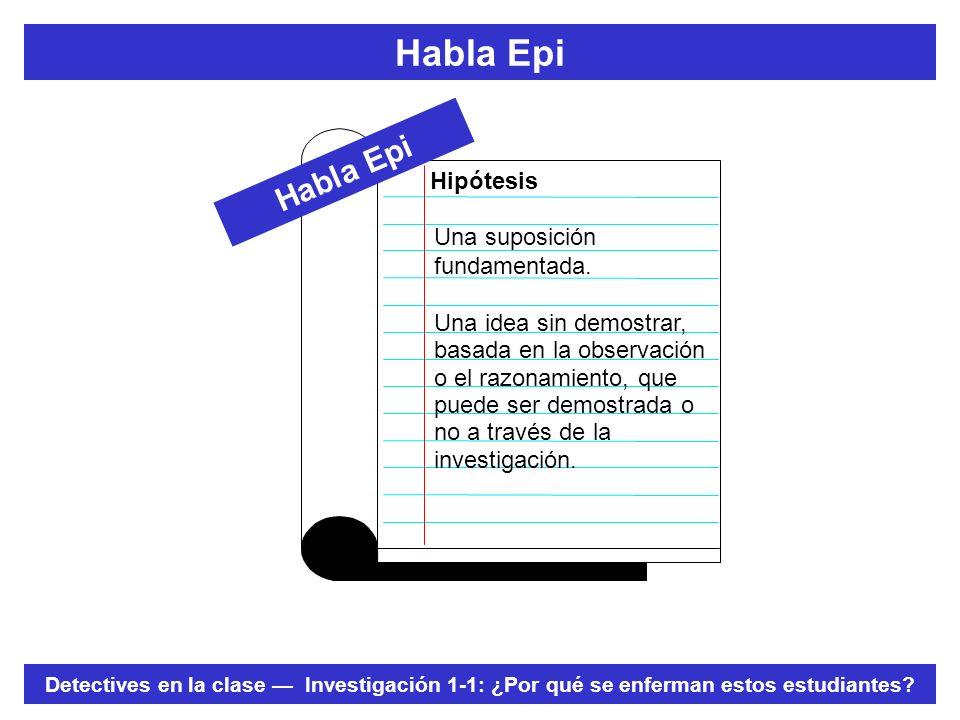 Habla Epi Habla Epi Hipótesis Una suposición fundamentada.