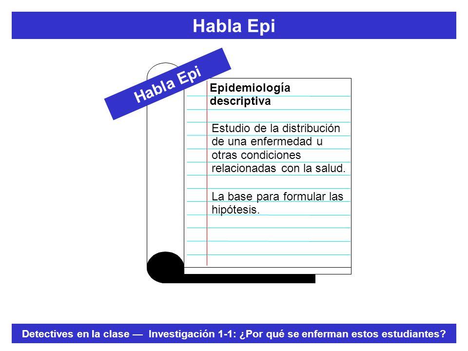 Habla Epi Habla Epi Epidemiología descriptiva