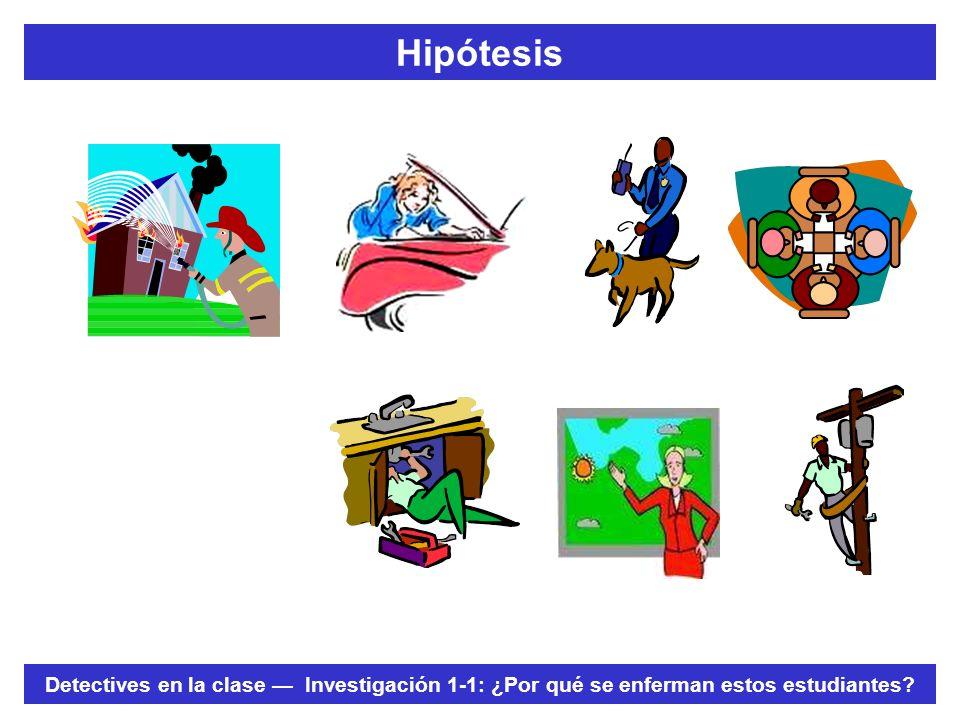 Hipótesis Pida a los estudiantes que expliquen cómo el describir la distribución de DZ y el formular una hipótesis es similar a: