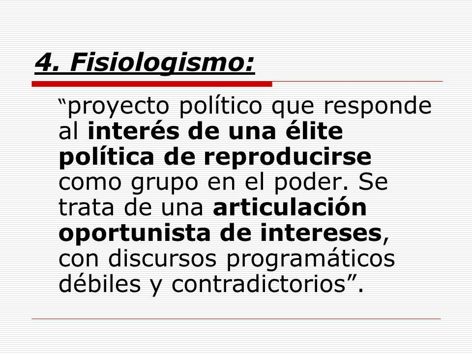 4. Fisiologismo: