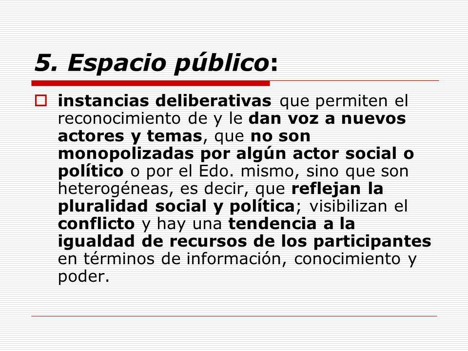 5. Espacio público: