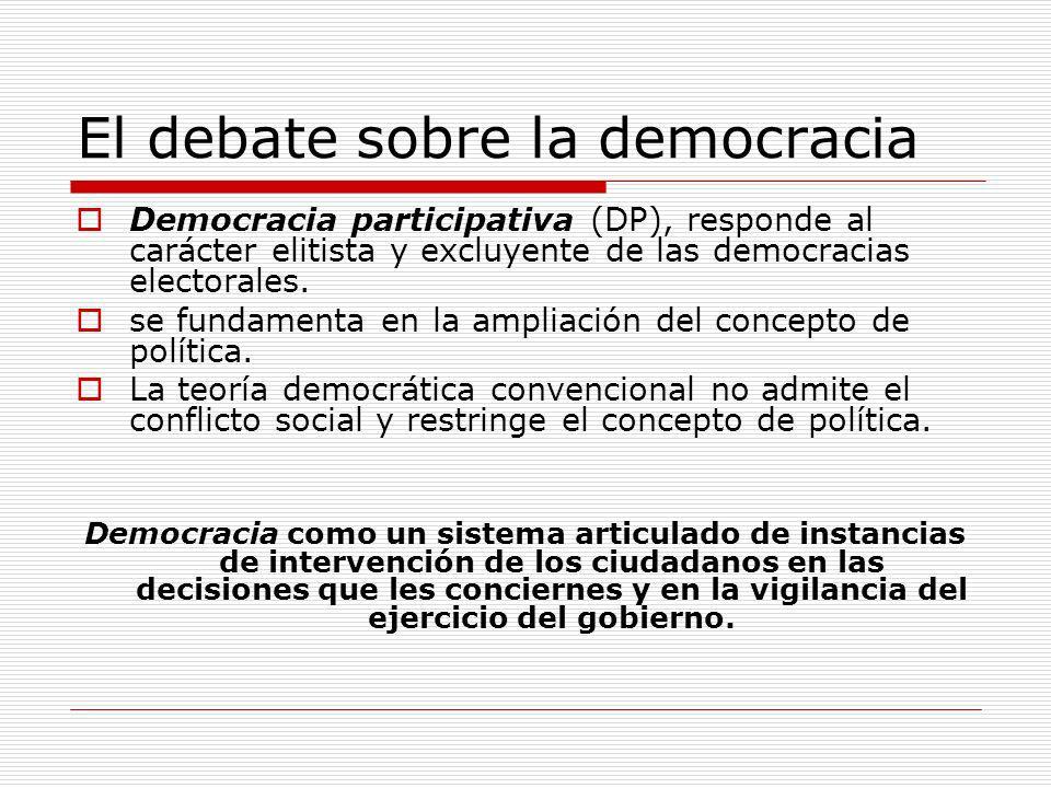 El debate sobre la democracia