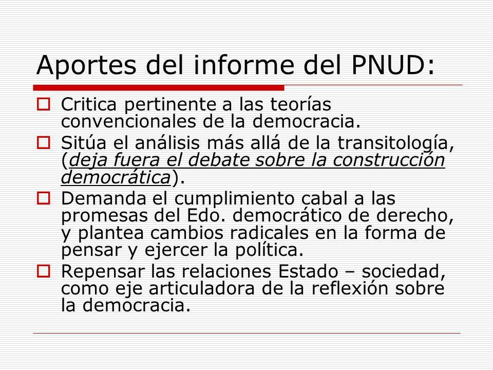 Aportes del informe del PNUD: