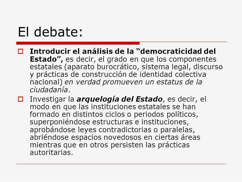 El debate: