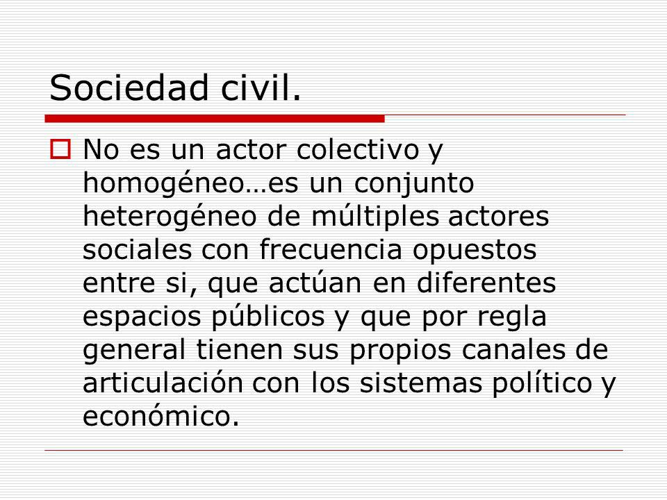 Sociedad civil.