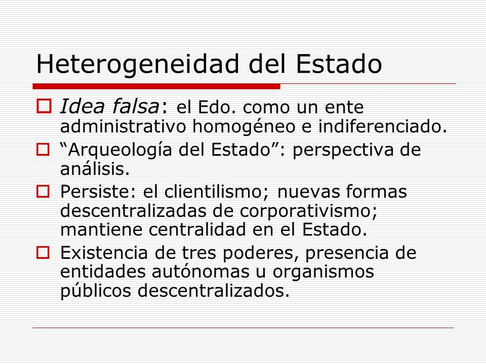 Heterogeneidad del Estado