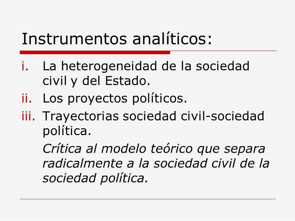 Instrumentos analíticos: