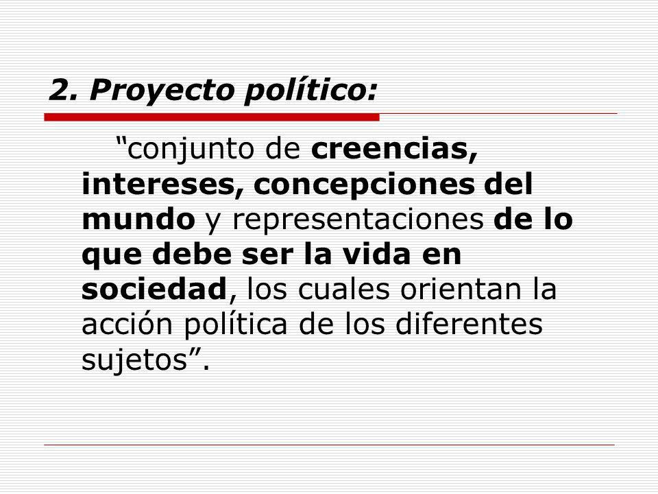 2. Proyecto político: