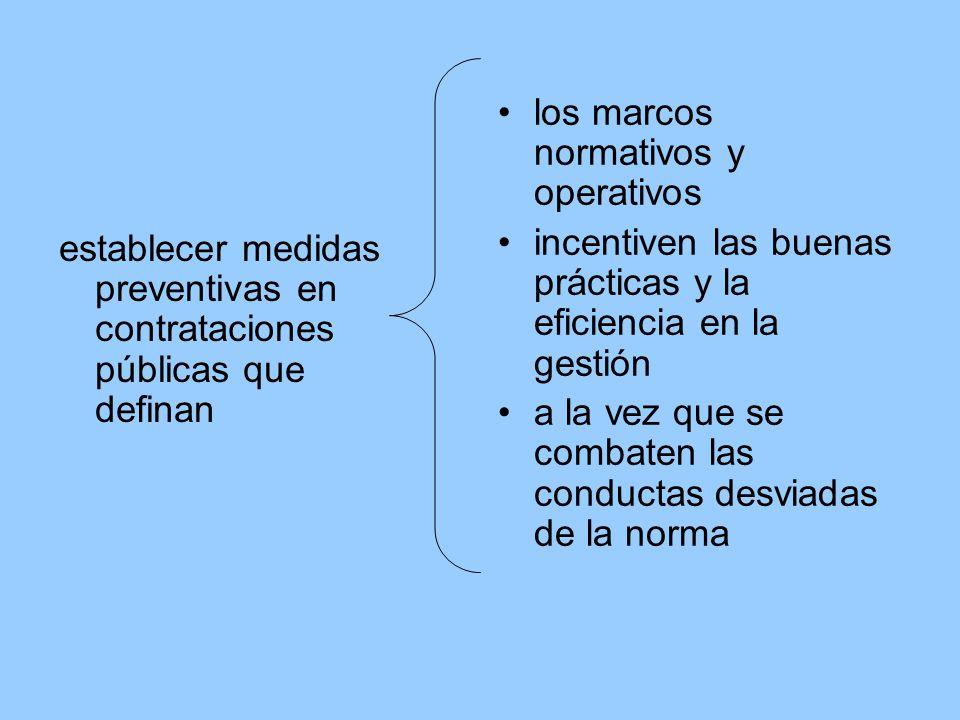 los marcos normativos y operativos