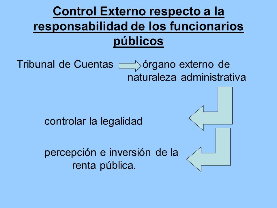Control Externo respecto a la responsabilidad de los funcionarios públicos