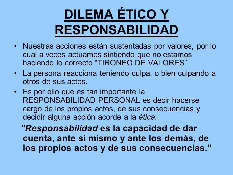 DILEMA ÉTICO Y RESPONSABILIDAD