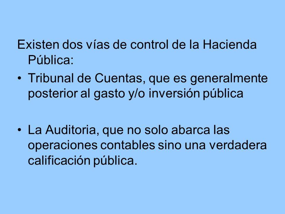 Existen dos vías de control de la Hacienda Pública: