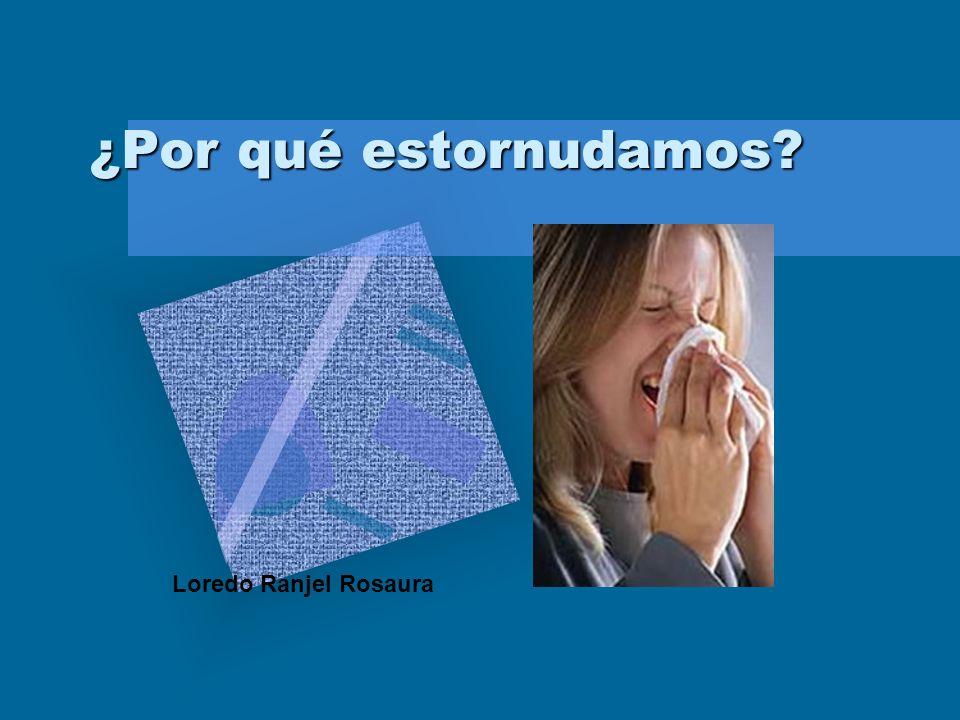 ¿Por qué estornudamos Loredo Ranjel Rosaura