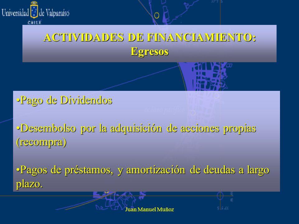 ACTIVIDADES DE FINANCIAMIENTO: Egresos
