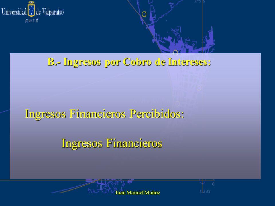 Ingresos Financieros Percibidos: Ingresos Financieros