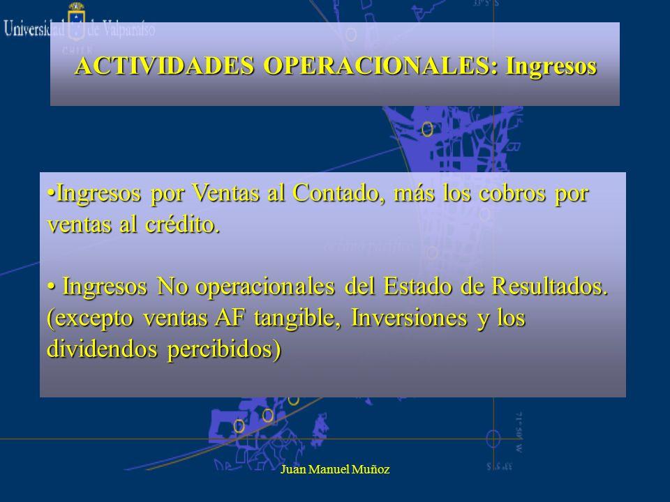 ACTIVIDADES OPERACIONALES: Ingresos