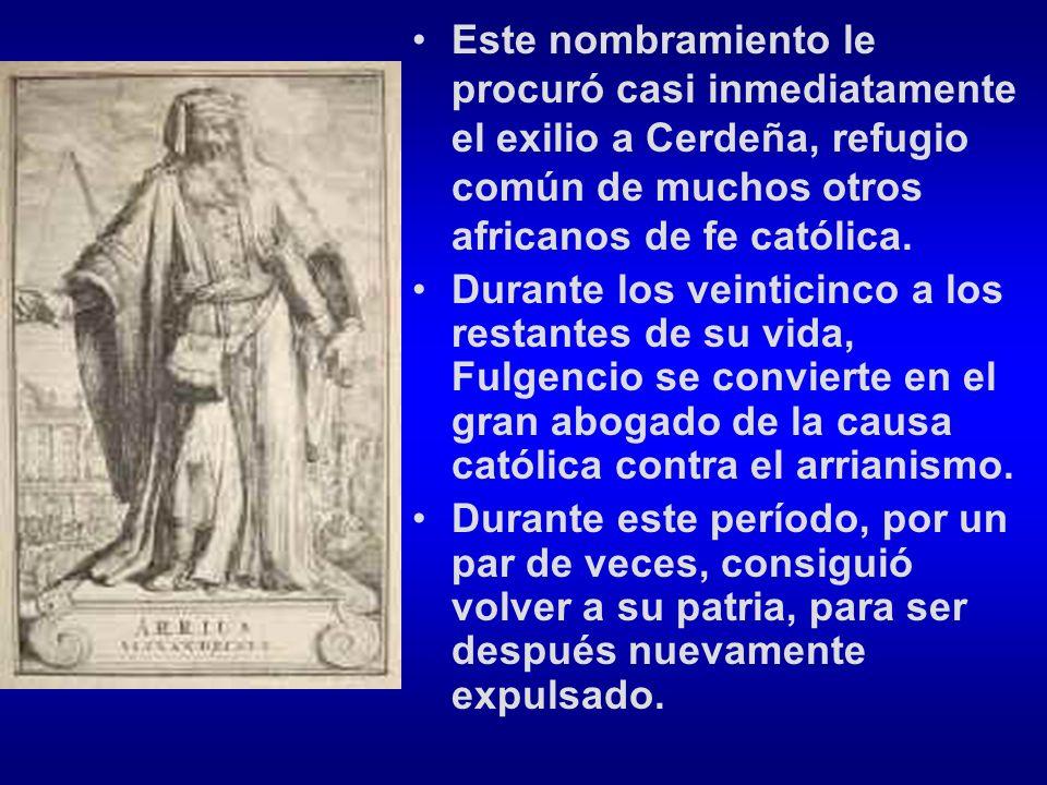 Este nombramiento le procuró casi inmediatamente el exilio a Cerdeña, refugio común de muchos otros africanos de fe católica.