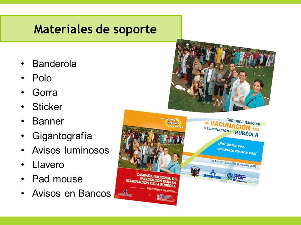 Materiales de soporte Banderola Polo Gorra Sticker Banner