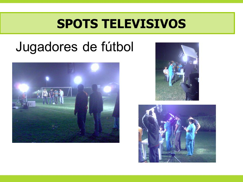 SPOTS TELEVISIVOS Jugadores de fútbol