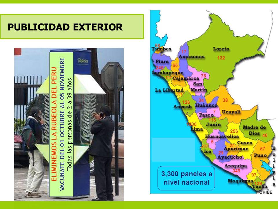 VACUNATE DEL 01 OCTUBRE AL 05 NOVIEMBRE ELIMINEMOS LA RUBEOLA DEL PERU