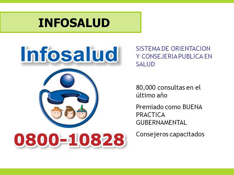 INFOSALUD SISTEMA DE ORIENTACION Y CONSEJERIA PUBLICA EN SALUD