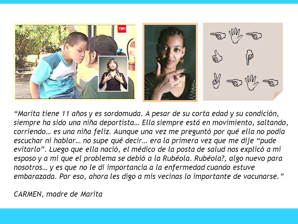 Marita tiene 11 años y es sordomuda
