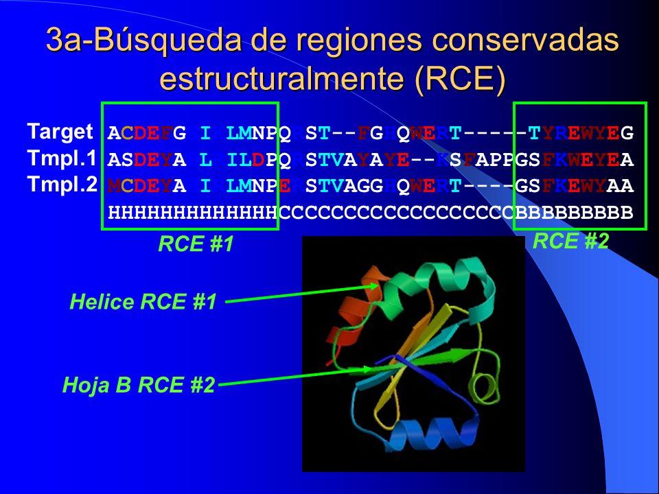 3a-Búsqueda de regiones conservadas estructuralmente (RCE)