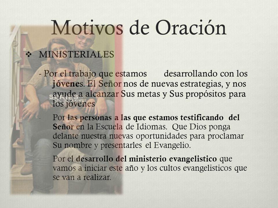 Motivos de Oración MINISTERIALES