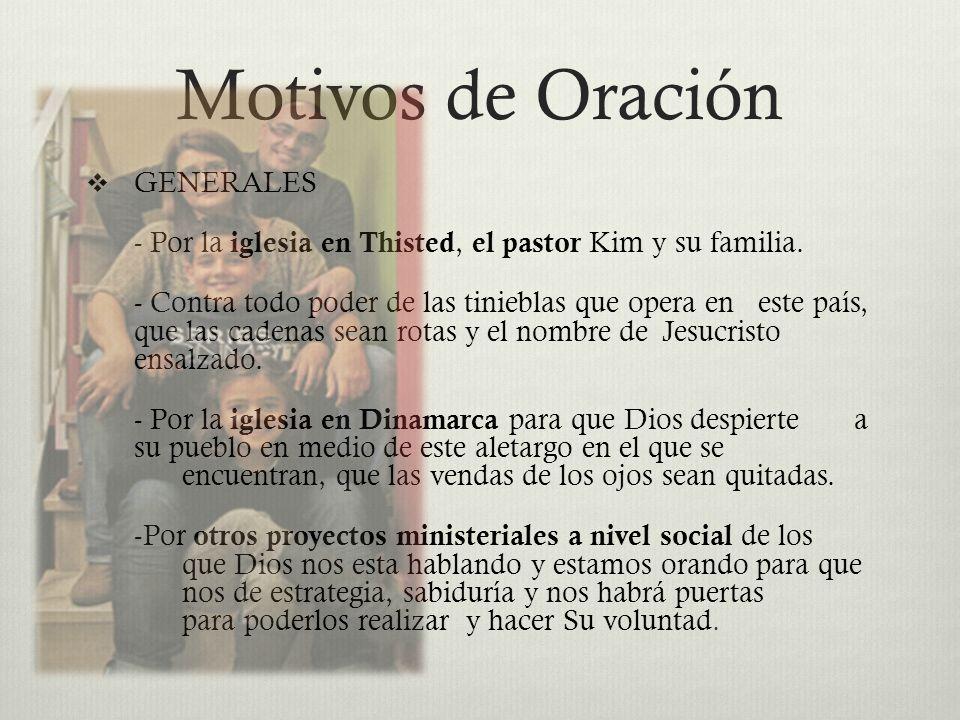 Motivos de Oración GENERALES