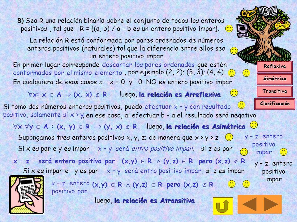 En cualquiera de esos casos x – x = 0 y 0 NO es entero positivo impar